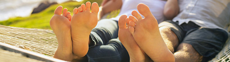 Banner - Lounging Feet